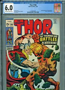 The Mighty Thor #166 (Marvel 1969) CGC 6.0