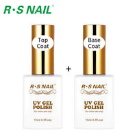 RS Nail Gel Polish No Wipe Top Coat+Gel Primer Base Coat UV LED Varnish 1.0oz