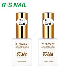 RS Nail Gel Polish No Wipe Top Coat+Gel Primer Base Coat UV LED Varnish 1.0oz