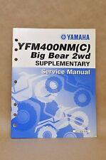2000 Yamaha YFM400 NM YFM400 NMC Big Bear 2wd Supplementary Service Manual