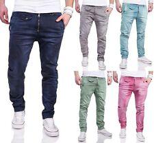 MAX & LIU Herren Slim Fit Jeans Hose Chino Coloured Biker Kosmo Japan Style 6832