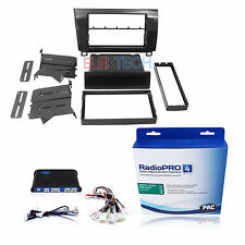 Radio Replacement Interface & METALLIC BLACK Dash Kit 1 & 2-DIN for Toyota