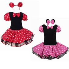 Girls Kids Minnie Mouse Party Halloween Costume Birthday Tutu Dress Up Headband
