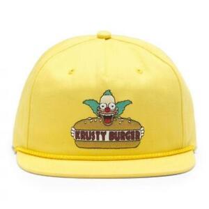 NEW VANS x The Simpsons Krusty Burger Yellow Hat Cap