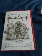 Tatty teddy me to you bear sister and her husband Christmas Card BNIP
