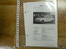 S12-SIMCA TYPE 1100,LS,GL,GLS,COACH,SEDAN,STATIONCAR EN
