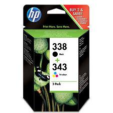 Original HP 338 & HP 343 Ink Cartridge Multipack (SD449EE)
