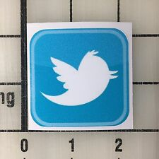 """Twitter Logo 2"""" Wide Multi-Color Vinyl Decal Sticker - 4 Stickers Total"""