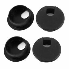 Desk Table Computer Round Shaped Black Cable Grommet Hole Cover 35Mm 4Pcs G6J7