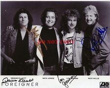 Foreigner Band Promo Photo Signed Autograph 8x10 Photo Reprint