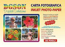 100 FOGLI CARTA FOTOGRAFICA 13X18 FOTO GLOSSY LUCIDA 260 GR. PER INKJET