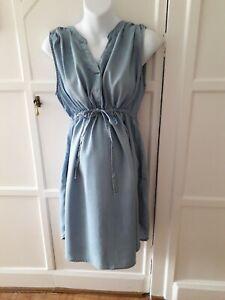 H& M  Maternity Denim Style Dress Size L  16/18