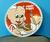 VINTAGE PIGGLY WIGGLY PORCELAIN GAS AUTO GENERAL STORE SERVICE MARKET SIGN