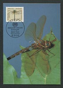 GERMANY MK 1991 DRAGONFLIES LIBELLULES LIBELLEN CARTE MAXIMUM CARD MC CM /m75
