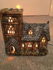 Rare Derek Fowler Pottery CHURCH Night Light Lamp LONDON label, Fully working