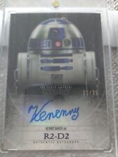 2015 Star Wars Force Awakens Kenny Baker R2-D2 21/25 Autograph Auto R2D2 1/1