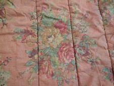 Ralph Lauren Dusty Pink/Coral Floral Roses Full/Queen Vintage Comforter