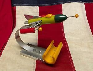 Vintage Rocket Ship Bakelite/Aluminum Space Age Art Sculpture Gus Constantine #2