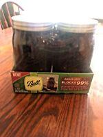 Ball Wide Mouth Amber Glass Mason Canning Jars (Pack of 4) Quart Size Anti-UV