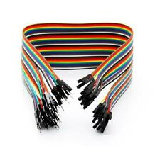 """Dupont Jumper Wire Ribbon GPIO Cable - 40 x 6"""" Female/Male 'Extension' (40 Pcs)"""