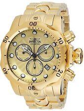23891 Invicta Venom 53mm Men Swiss Parts Chronograph Gold Dial GP Bracelet Watch