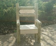 Personalised childrens wooden bench/ chair 1ft wide