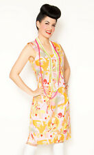 Broad Minded Clothing Mod Future Ella Space Pinup Girl Print Dress PINK SMALL