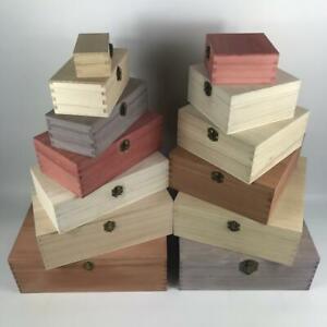 Large Engraved Wooden Square Boxes Small Personalised Keepsake Wood Trinket Box