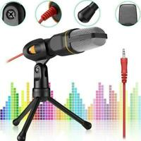 Microphone With Mini Stand Tripod Audio Recording For Computer-PC Phone O5Z4