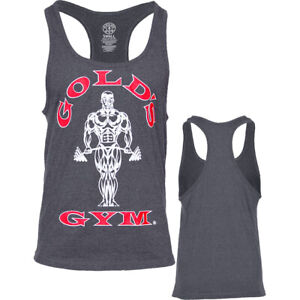Golds Gym Classic Stringer Tank Top Charcoal S-XXL Bodybuilding Fitness