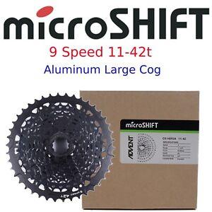 microSHIFT CS-H093A  ADVENT 9 Speed 11-42t Wide Range Cassette fit Sram Shimano