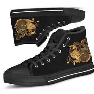Capricorn Zodiac Men's And Women's High Top HQ Shoes - Star Sign Canvas Shoes