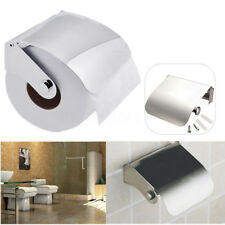 Stainless Steel Toilet Paper Roll Holder Tissue Bathroom Dispenser Wall Mounted