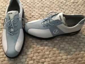 WOMENS ECCO GOLF SHOES BRAND NEW NEVER WORN SIZE 42/8 BLUE/WHITE