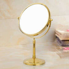 Gold Double Side Vanity Makeup Mirrors Stand with 3X Magnifying