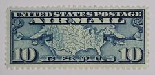 Travelstamps: 1926-30 US Stamps Scott # C7 mogh og, mint Map of US and Airplanes
