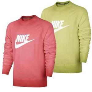 Nike Aw77 Lightweight Solstice Crew Men Sweatshirt Herren Nike Neon Pullover