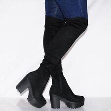 Damenschuhe im Boots-Stil aus Wildleder mit hohem Absatz (5-8 cm)