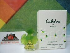 CABOTINE DE GRES EAU DE PARFUM 0.10 OZ / 3,2 ML NEW IN BOX MINI RARE