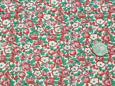 Vintage Full Feedsack: Red,  Pink Fruits and Flowers