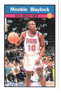 Mookie Blaylock 1992-93 New Jersey Nets Basketball Italian Panni Sticker card