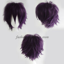 Short Cosplay Synthetic Wig Short Haircut Hair Unisex Party Cosplay Full Wigs US