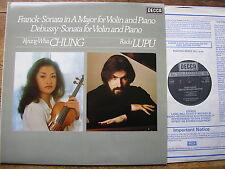 SXL 6944 FRANCK & DEBUSSY: SONATAS FOR VIOLIN & PIANO   CHUNG / LUPU  NM