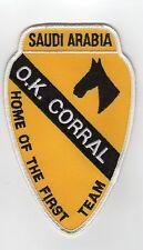 1st Cav OK Corral - Operation Desert Storm BC Patch Cat No b136