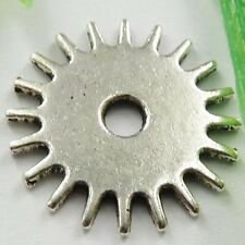 FREE SHIPPING 60pcs tibet silver gear wheel spacers 17mm