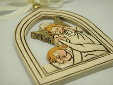 Poly Hanging Plaque with Religious Holy Guardian Angle Design