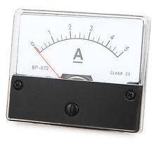 Messinstrument 0 - 5 A DC zum Einbau, Einbaumessinstrument, Analog Amperemeter