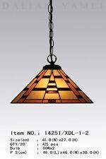 Tiffany Lampe Deckenlampe Hängelampe Pendelleuchte Tiffanylampe beige neu D29M