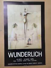 Affiche Paul WUNDERLICH - Galerie Octave Negru 1976