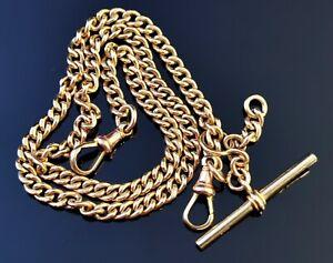 Antique Victorian 9ct yellow gold Albert chain, watch chain